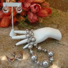 VINTAGE LOT SILVER TONE COSTUME JEWELRY W/ SARA COVENTRY BROOCH