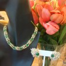 VINTAGE MINT CONDITION SIGNED CORO DEMI PARURE NECKLACE & EARRINGS