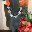 Rare Vintage Margot De Taxco Sterling and Enameled Necklace and Earring Set