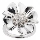 Affinity Diamond Ring 1/10 ct tw Pave' Flower Size 9