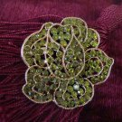 Vintage Estate Signed Weiss Rose Rhinestone Brooch Pin