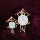 Estate Unsigned Set of Cuckoo Clock Sweater or Collar Pins