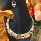 VINTAGE ARTISAN CRAFTED COLLAR NECKLACE & COPPER EARRINGS Wearable Art Estate Piece