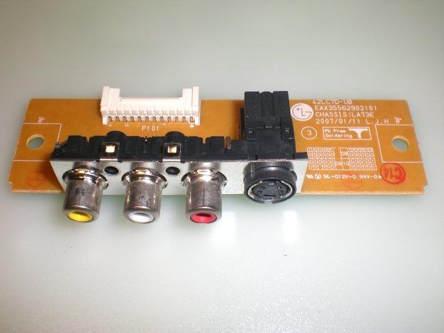 SIDE AV INPUT EAX35562902(0) P/N EBR35527001 for LG 37LC7D-UB AND OTHERS LG MODELS