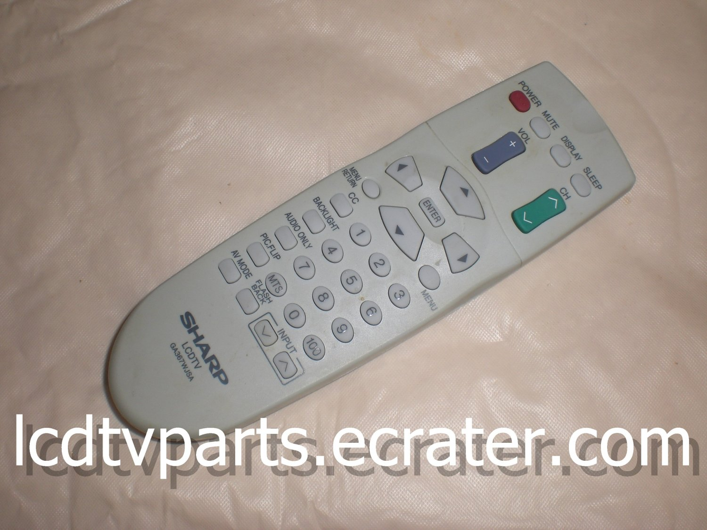 RRMCGA367WJSA, Original Remote Control for SHARP LC-20SH3U