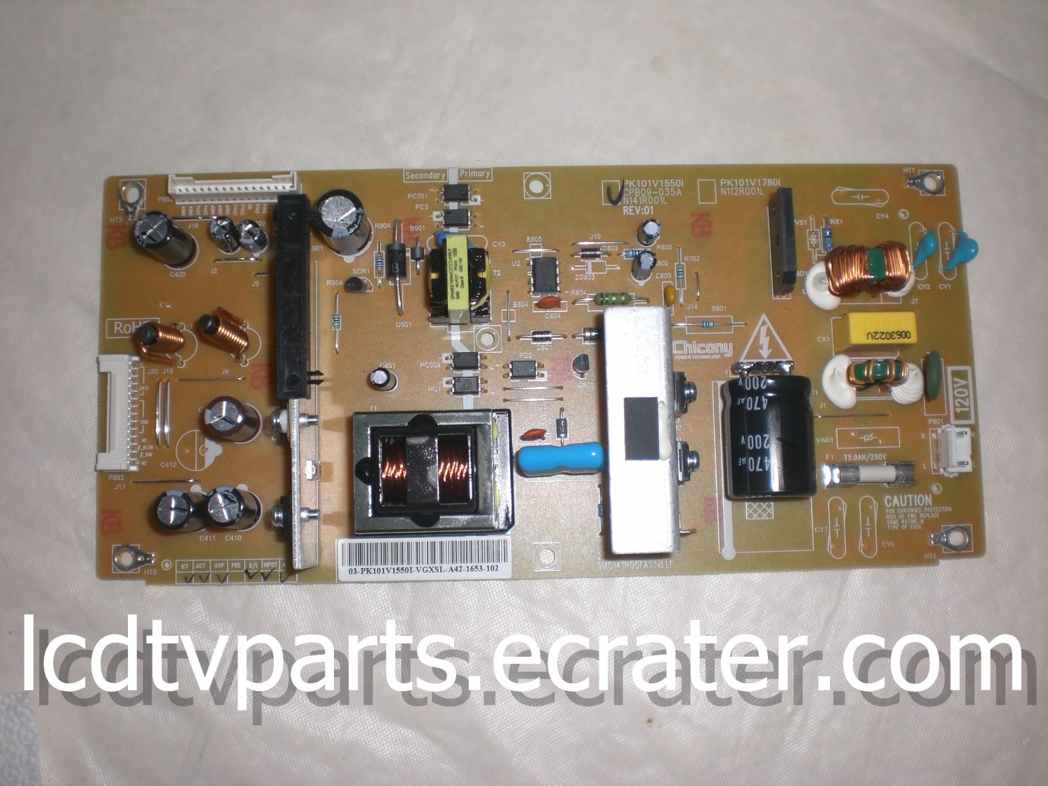75017704, PK101V1550I, CPB09-035A, 9MC141R00FATN3 LF, Power Supply for  TOSHIBA 32C100U1