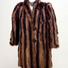 Vintage Ladies Racoon Fur Coat Kaplan of Buffalo 1940s Original owners BROWN Exc