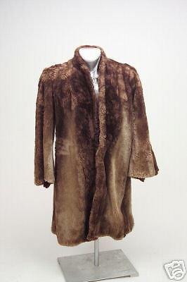 Vintage Ladies Fur Coat- Plush- Kaplan 1940-1950's Original owners Brown As Is