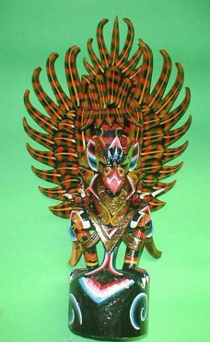 """Garuda handmade wood carving from Bali Indonesia 24"""" size Red or Black UNIQUE"""