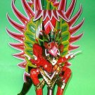 "Garuda handmade wood carving from Bali Indonesia 14"" size Red or White UNIQUE"