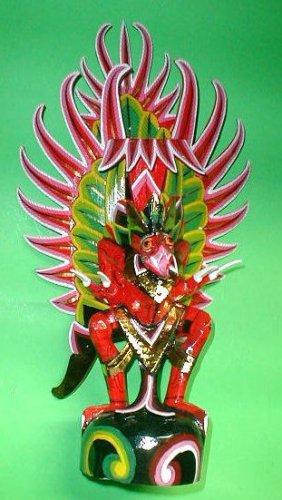 """Garuda handmade wood carving from Bali Indonesia 14"""" size Red or White UNIQUE"""