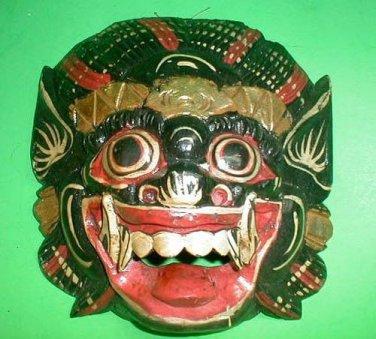 Bali Hindu Raksasa Mask  Gargoyle Demon Hand carved small 8.5 x 8 inch