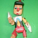 "Pinocchio Marionette Puppet  Hand Carved Wood small 8"" Disney"