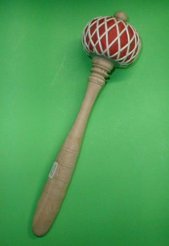 "Gong  LARGE Teak Wood STRIKER MALLET Music Percussion 11"" Long top quality"