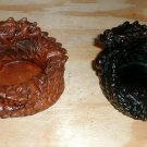 "Dragon Ashtray Resin 5"" diameter choice of (1) ONE solid Brown or Black"