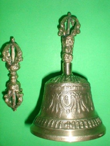 Tibetan Bell and Dordje, Bell 6.0 inch with Dorje Beautiful sound