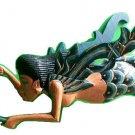 "Dewi Sri Rice Goddess Hanging mermaid Lady Hand Wood C+M 11"" BLUE new style"