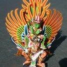 Garuda with Vishnu handmade wood carving from Bali Indonesia 18 in White Garuda