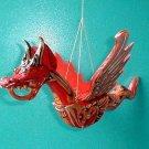 """Dragon Bali Naga Flying Hanging  Large 16"""" made in Bali wood RED"""