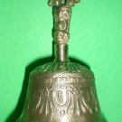 Bell Tibet large 6 inch heigh Beautiful Meditation sound Nepal with prayer flag
