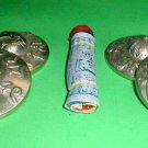 Tibet Buddhism Tingsha Tinksha Tingksa ~2 inch d Cymbals w/ASSORTED Motif Bell