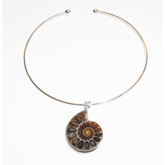 Genuine Ammonite Fossil Choker Necklace