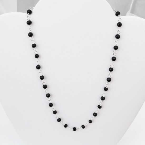 Onyx Glass Necklace