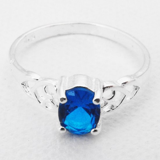 Sterling Silver And Blue Stone Ring