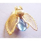 Fly With Large Blue Stone