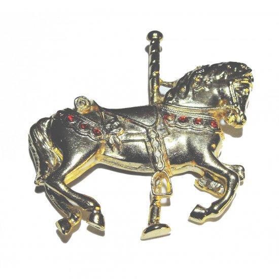 Carousel Horse Brooch