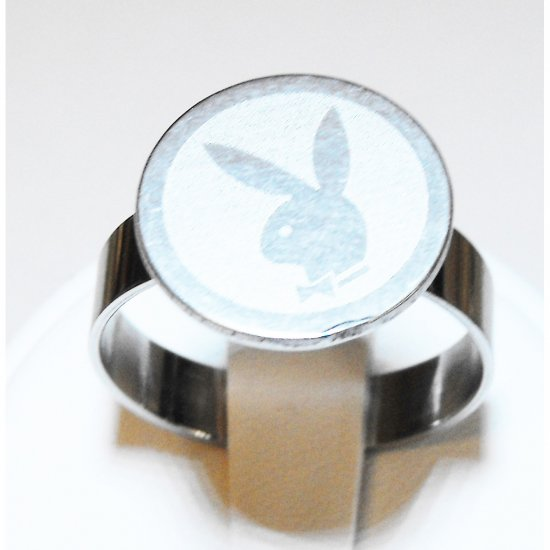 Playboy Stainless Steel Ring (sz.11)