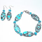 Turquoise Bracelet and Earring Set