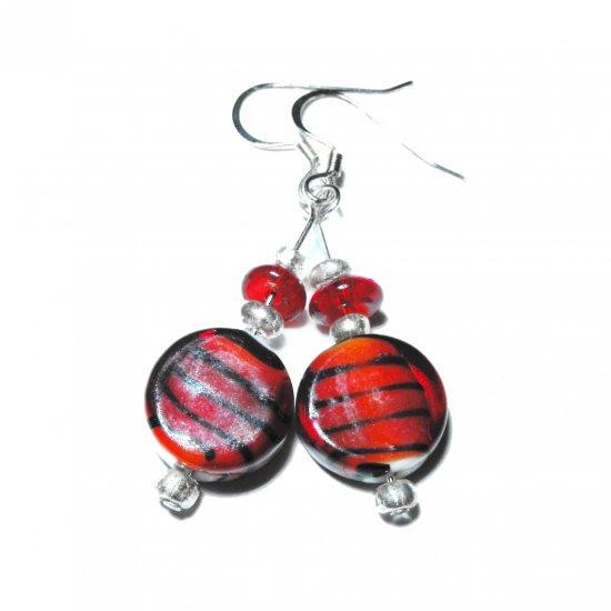 Candy Striped Earrings (short)