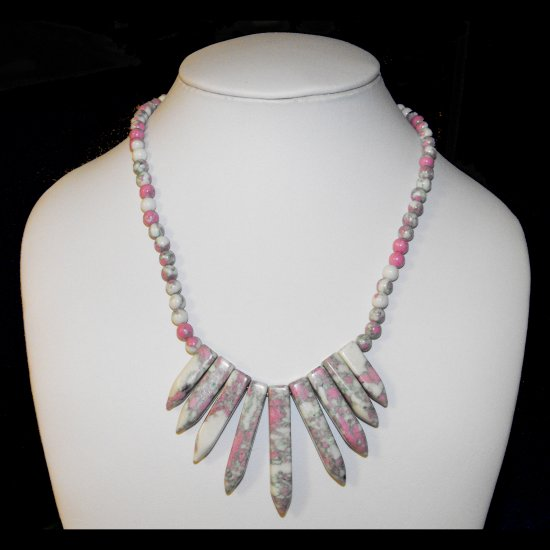 Turquoise Arrow Necklace Pink And White