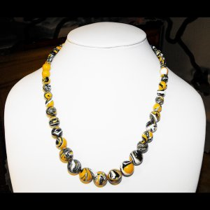 Yellow Swirled Turquoise Necklace