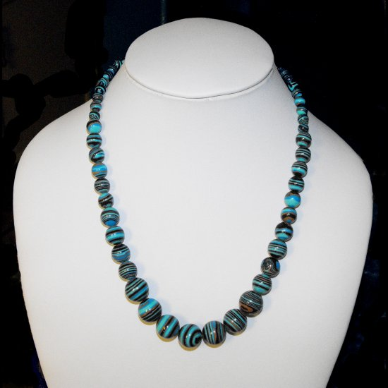 Blue Swirl Turquoise Necklace