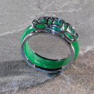 Jade And Silver Ring (sz.8.5)