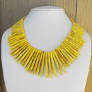Spiked Necklace Yellow