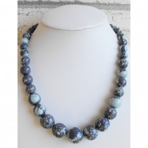 Violet And Blue Tower Necklace