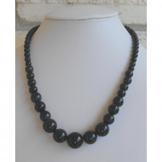 Blue Goldstone Necklace
