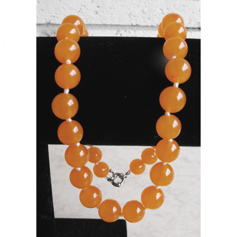 Sale! South American Orange Topaz Necklace