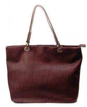 Alexandra Jordan Brown Textured Leather Tote