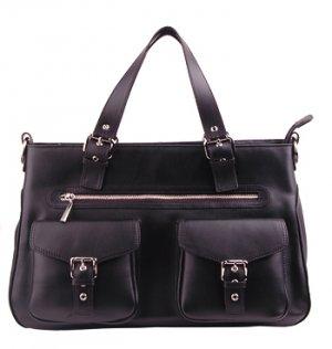 Alexandra Jordan Multi-Pocket Leather Satchel