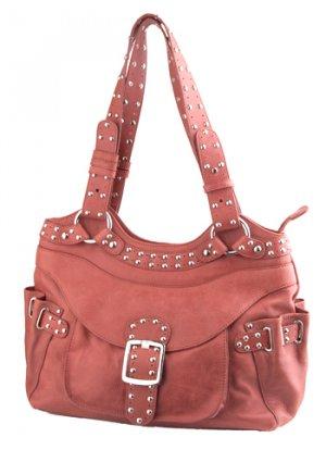 Alexandra Jordan Rouge Leather Shoulder Bag