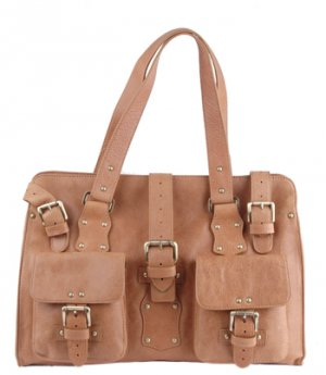 Alexandra Jordan Multi- Buckle Leather Tote