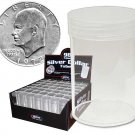 98 NEW COIN TUBES SILVER DOLLAR CLEAR ROUND BCW LOOK