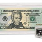 LOT OF 10 BCW ACRYLIC CURRENCY SLABS SMALL DOLLAR BILL