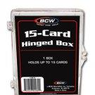 8 NEW BCW 15 CARD HINGED BASEBALL / TRADING CARD BOXES
