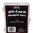 10 BCW 25 CARD HINGED BASEBALL / TRANDING CARD BOXES