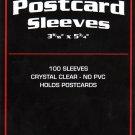 1000 BCW STANDARD SIZE POSTCARD SLEEVES 3 11/16 X 5 3/4